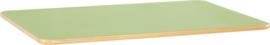 Rechthoekig Flexi tafelblad 120x80cm groen los
