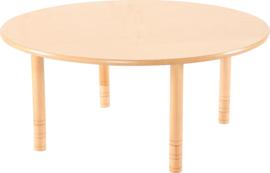Ronde Flexi tafel 120cm beuken in hoogte verstelbaar