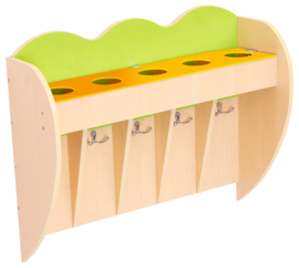 Opberg plank voor bekers