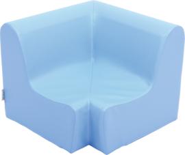 Lage hoekbank zithoogte 20cm - licht blauw