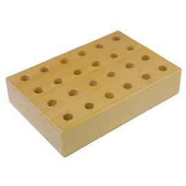 Potloden of kwarstenblok hout voor 24 potloden