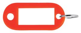 Sleutellabel Pavo kunststof rood