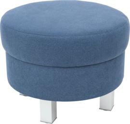 Ronde relaxpoef marineblauw - vierkante poten