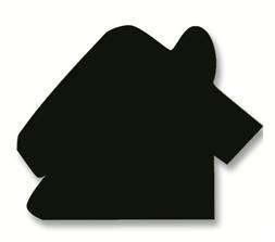 Jumbo - Plakfiguur huis 200st assorti