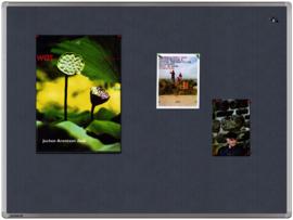 Textielbord universal grijs 90 x 120 cm