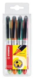 Markeerstift STABILO Navigator 545 etui à 4 kleuren