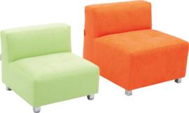 Flexi bank, zithoogte 35 cm, oranje