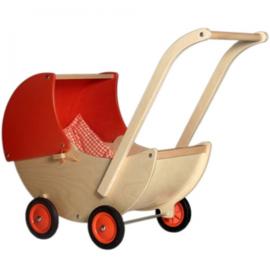 Poppenwagen oranje