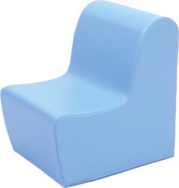 Hoge zitbank 45cm zithoogte 34cm - Lichtblauw