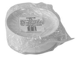 Bord kunststof 22cm disposable wegwerp 100 stuks