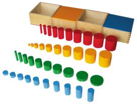 Kleurrijke cilinders