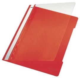 10x Snelhechter Leitz 4191 A4 PVC rood