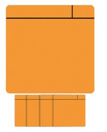5x Magneet scrum 75x75mm oranje