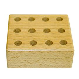 Potlodenblok hout voor 24 potloden