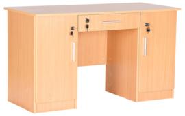Vigo bureau met 2 kasten en lade - beuken