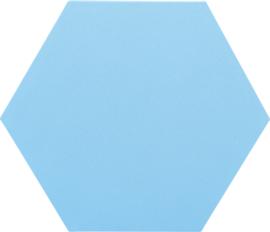 Geluiddempende zeshoek  PLUS, lichtblauw