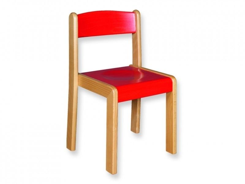 Houten stapelstoel kleur