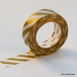 Gouden met witte lijnen masking tape