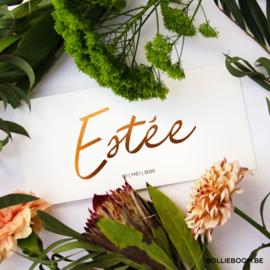 Koperfolie  | Estée | 20 mei 2020