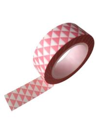 Roze masking tape met driehoeken
