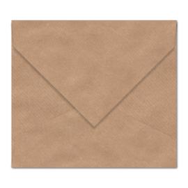 Kraft envelop: 14 x 14 cm