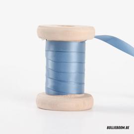 Cactusblauw satijnlint 1cm (per meter)