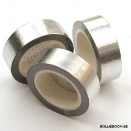 Blinkende zilveren masking tape