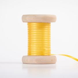 Zonnegeel  satijnlint 3mm (per meter)