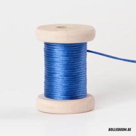 Koningsblauwe satijnkoord (per meter)