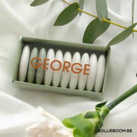 Koperfolie geboortekaartje GEORGE