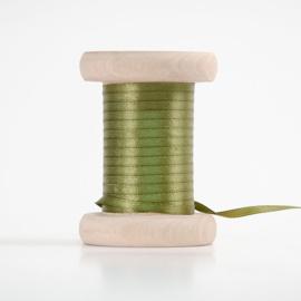 Legergroen satijnlint 3mm (per meter)