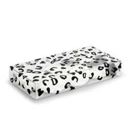Rechthoekig transparant doosje met luipaard print