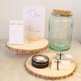Lijntekening geboortekaartje ELLIS