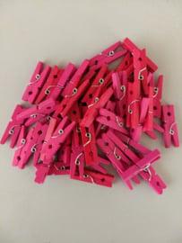 Kleine gekleurde wasknijpers (8 kleuren)