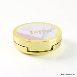 Lippenbalsem met spiegel in goud