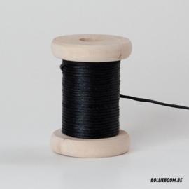 Zwarte satijnkoord (per meter)