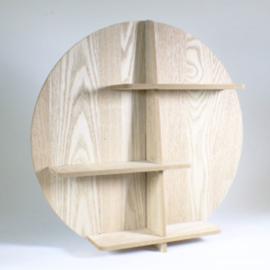 Rond houten rek