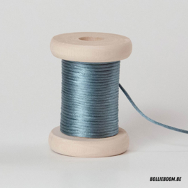 Cactusblauwe satijnkoord (per meter)