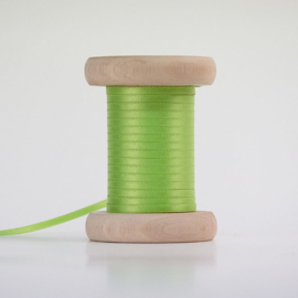 Grasgroene satijnlint 3mm (per meter)