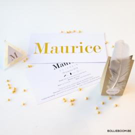 Goudfolie geboortekaartje MAURICE