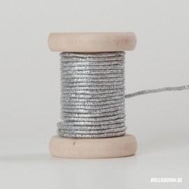 Zilveren vormbare koord (per meter)