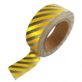 Masking tape met zwarte gradient met gouden strepen