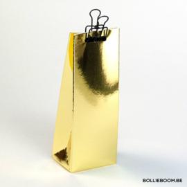 Glanzend gouden hoge doosje