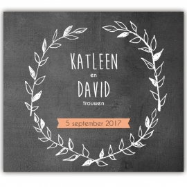 Huwelijksuitnodiging David & Katleen