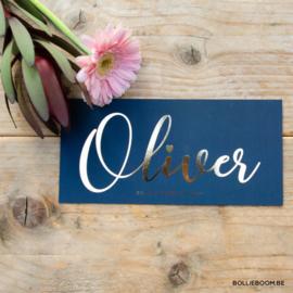 Donkerblauw met goudfolie | Oliver  | 20 oktober 2019