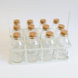 Metalen mandje voor flesjes