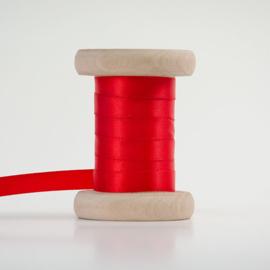 Rood satijnlint 1cm (per meter)