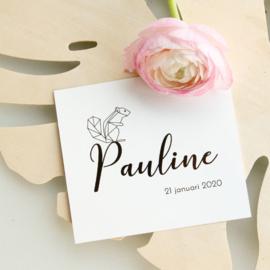 Eekhoorn goudfolie | Pauline |  21 januari 2020