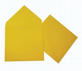 Zonnegele envelop (12,5 x 14 cm)