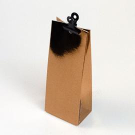 Glanzend koper hoge doosje